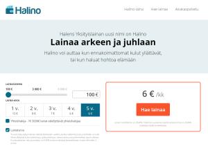 Halino tarjoaa lainaa pitkällä maksuajalla aina 3000 euroon asti
