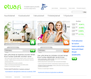 Etua.fi lainapalvelun kautta kulutusluotto tai asuntolainaa 2000 - 40000 euroa