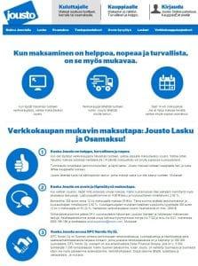 Jousto maksupalvelu yksityishenkilöille