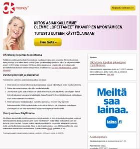 OKmoney on vaihtunut Laina.fi palveluksi