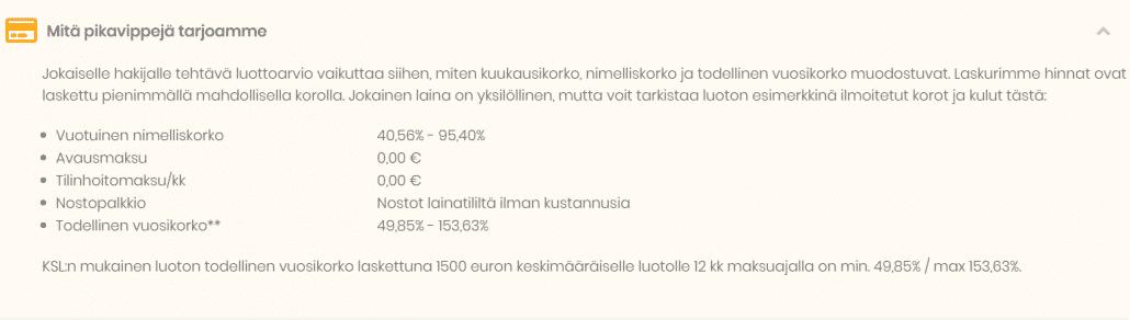 Hae 100 - 4000 euroa edullisesti lainaa